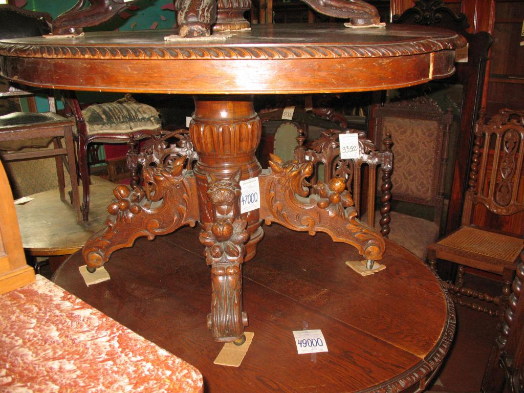 Реставрация раздвижного круглого стола своими руками 93
